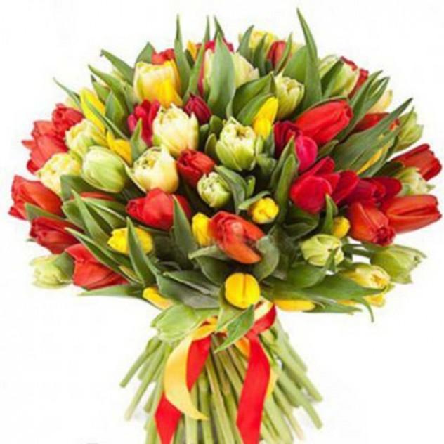 Букет из пионовидных тюльпанов № 8