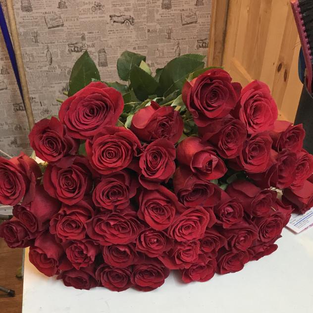 41 роза красная Эквадор