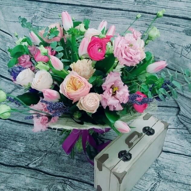 Букет розовый рай