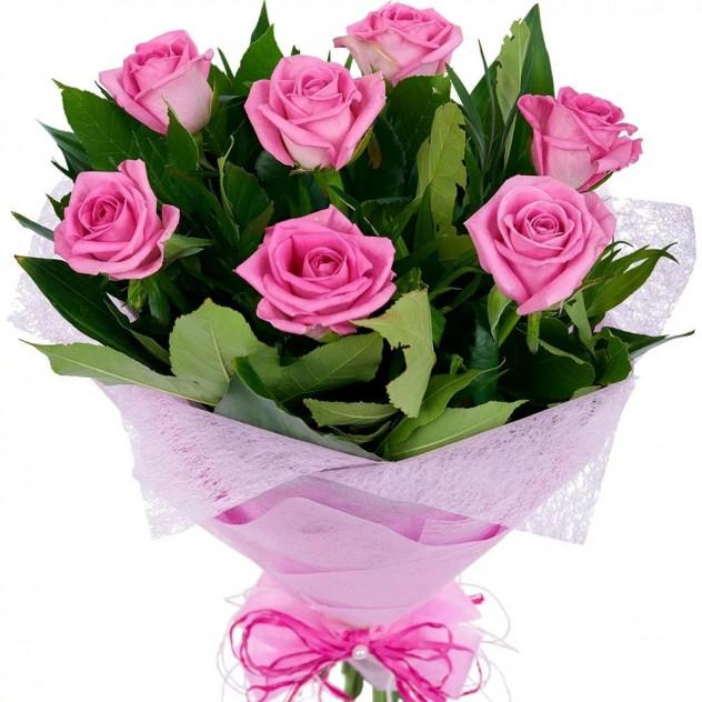 "Букет из 7 роз ""Розалинда"""