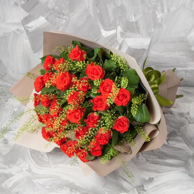 "Букет из 31 розы ""Баллада о весне"""