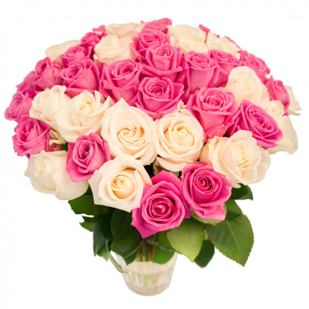 """Букет из 55 роз """"Мария Изабела"""""""