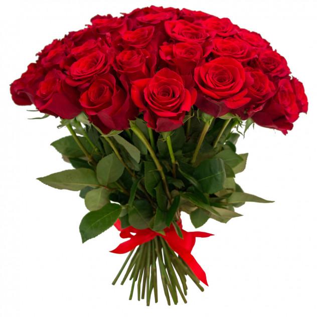 """Букет из 55 роз """"Самой яркой"""""""
