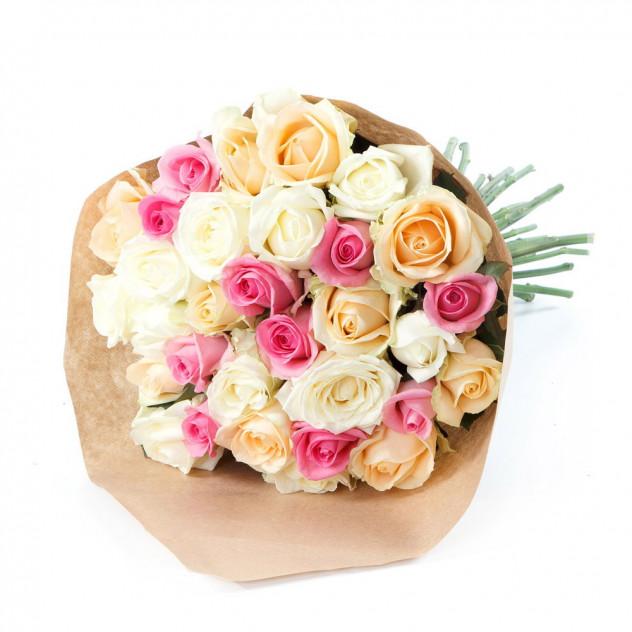"""Букет из роз """"Оттенки пастели"""""""