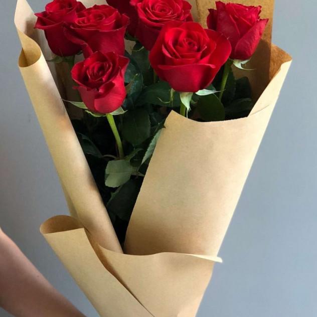 """Букет из 7 красных роз """"Алиса"""""""