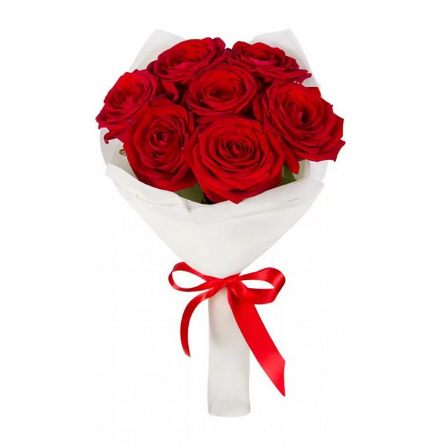 """Букет из 7 красных роз """"Кристина"""""""