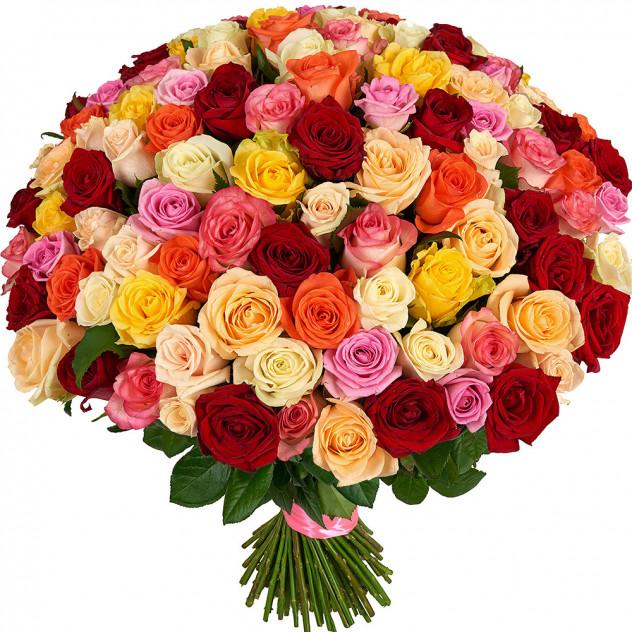 """Букет из 101 розы """"Навстречу радуге"""""""