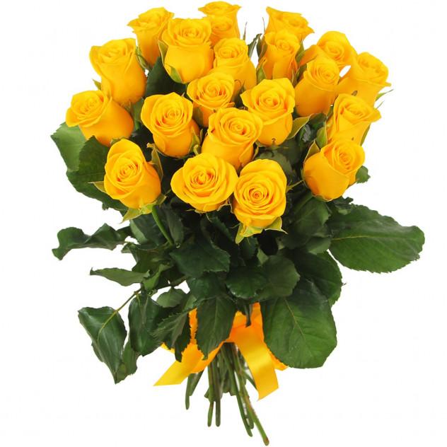 21 желтая роза