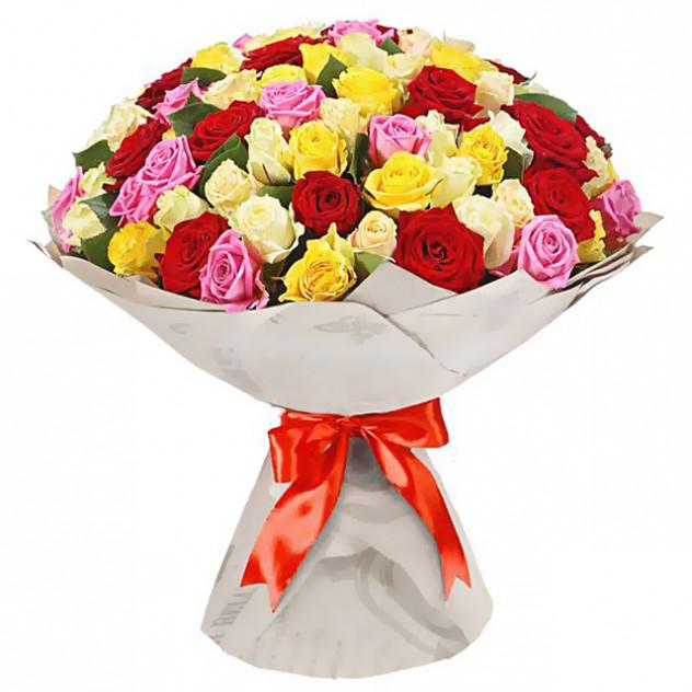 """Букет из 51 розы """"Яркие чувства"""""""