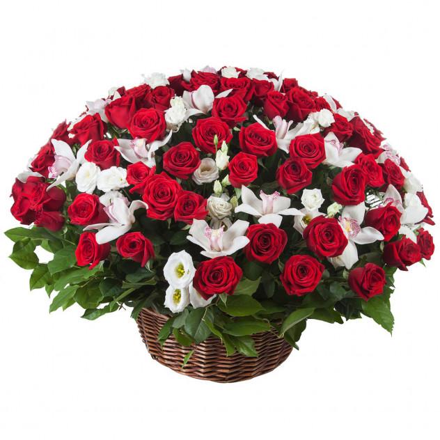 """Корзина с розами """"Богема"""""""
