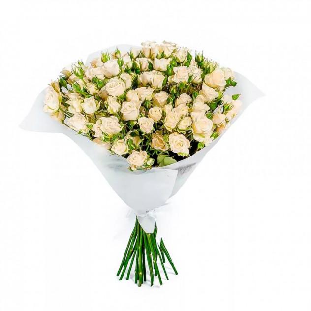 """Букет из белых кустовых роз """"Марина"""""""