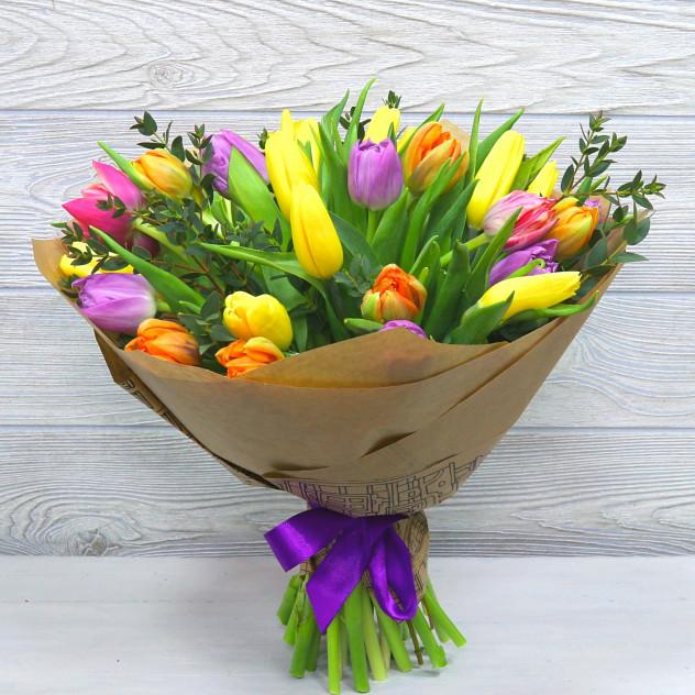 """Букет из тюльпанов """"Скоро будет тепло"""""""