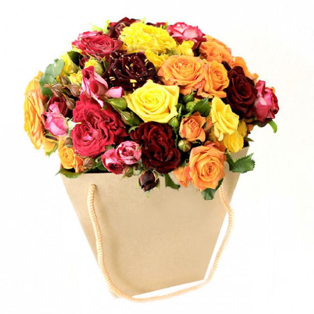 Букет из роз для Любимой мамочки