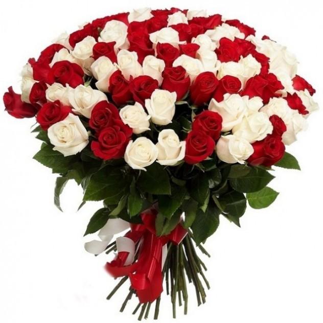 Букет из 51 эквадорской розы микс