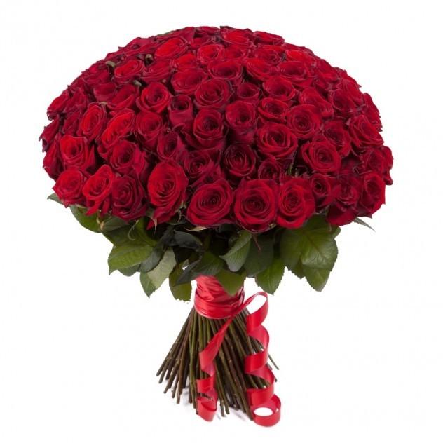 Букет из 101 элитной розы Фридом